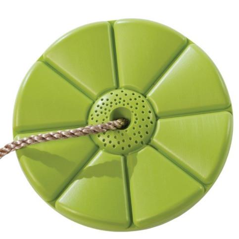 Zelené houpací sedátko Květina