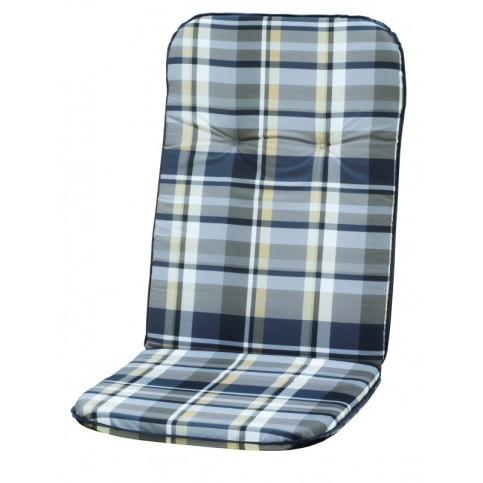 Polstr na křesla a židle s vysokou opěrkou vzor šedá kostka