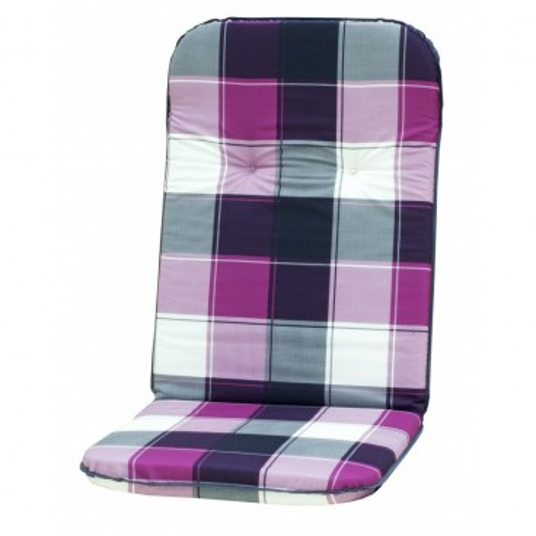Polstr na křesla a židle s vysokou opěrkou vzor šedo-růžová kostka