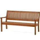 Třímístná lavice z eukalyptového dřeva