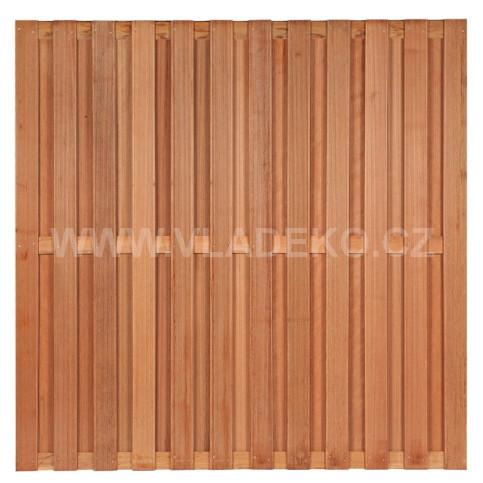 Plotový dílec Leeuwarden z tvrdého exotického dřeva