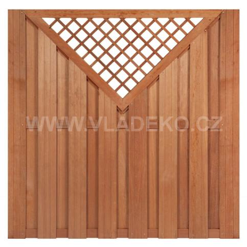 Plotový dílec Kampen Superior z tvrdého exotického dřeva