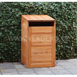 Dřevěný kryt na popelnice z teakového dřeva