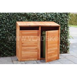 Přístřešek na popelnice z teakového dřeva