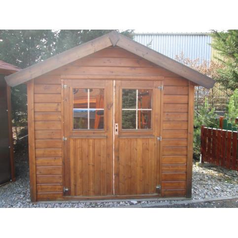 Zahradní domek s dvoukřídlými dveřmi