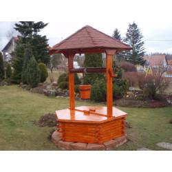 Dřevěná studna 125 cm