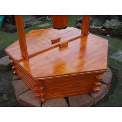 Poklop na dřevěnou studnu 125 cm