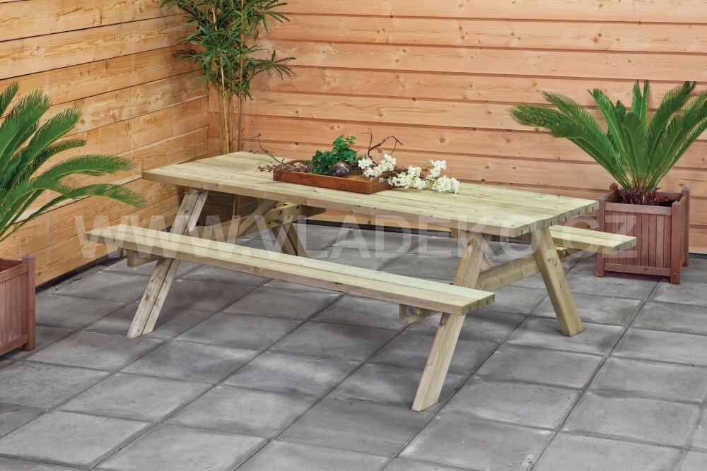 Stůl s lavicemi 180