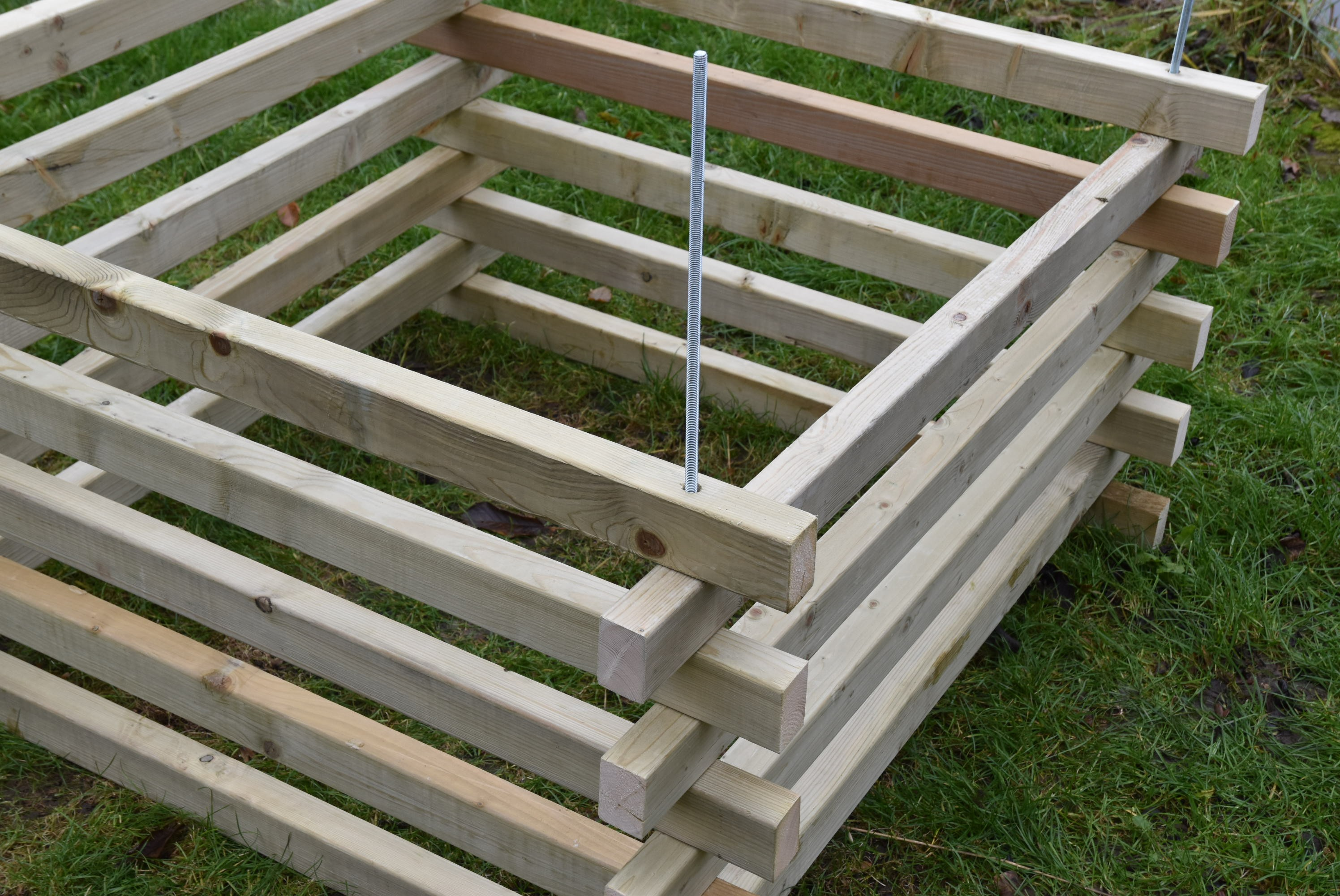 Dřevěný kompostér 120 x 120 cm