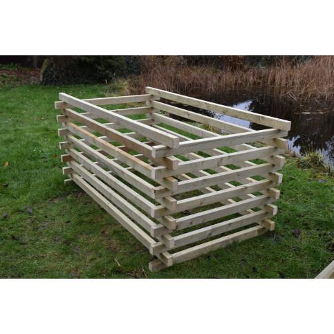 Dřevěný kompostér 120 x 200 cm