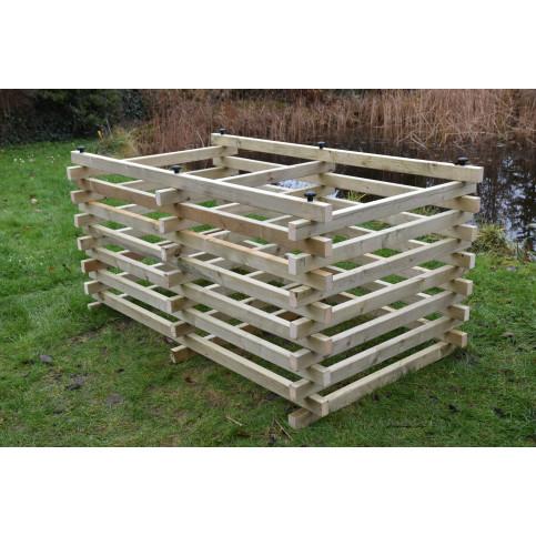 Dřevěný kompostér 120 x 200 cm s příčkou