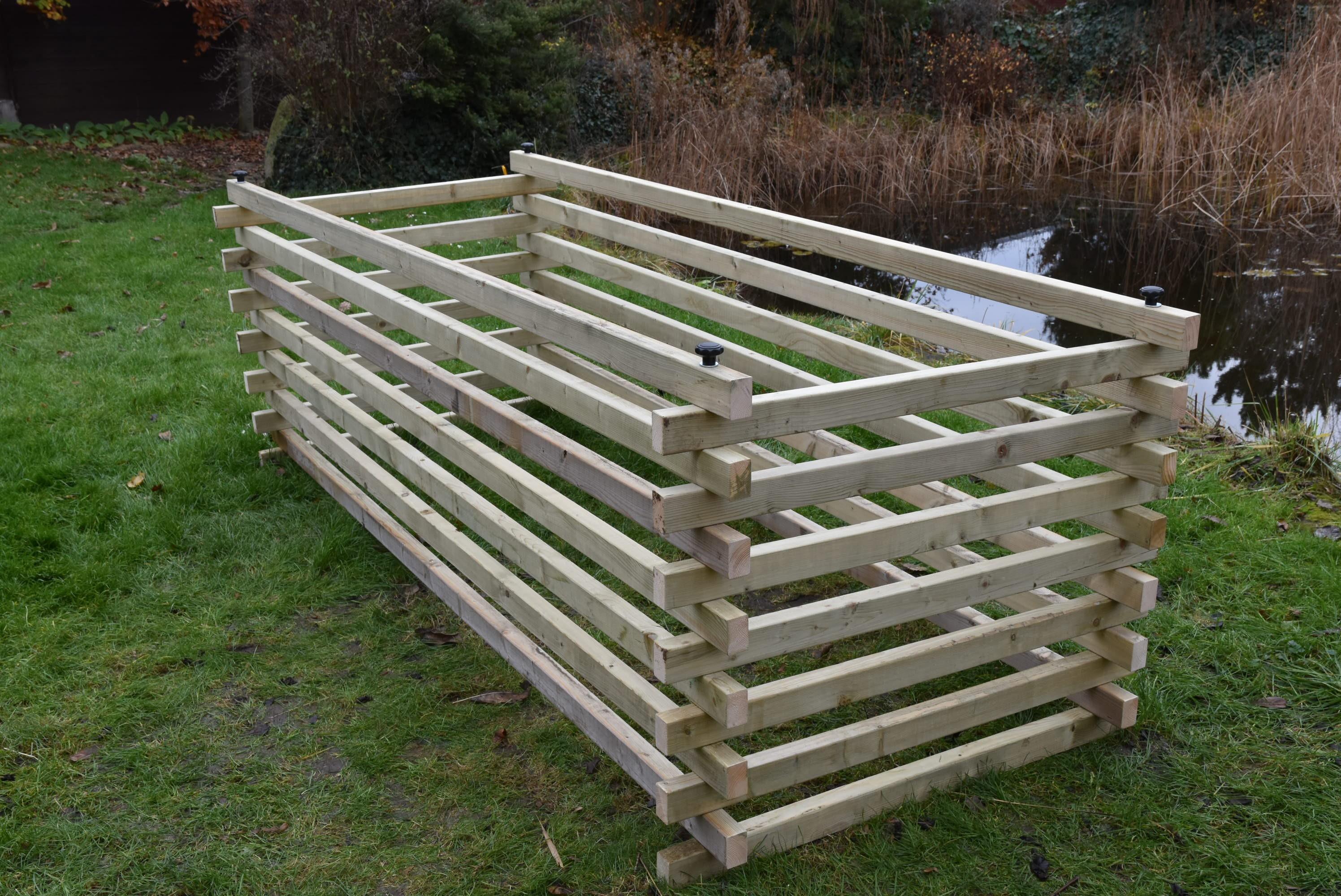 Dřevěný kompostér 120 x 300 cm