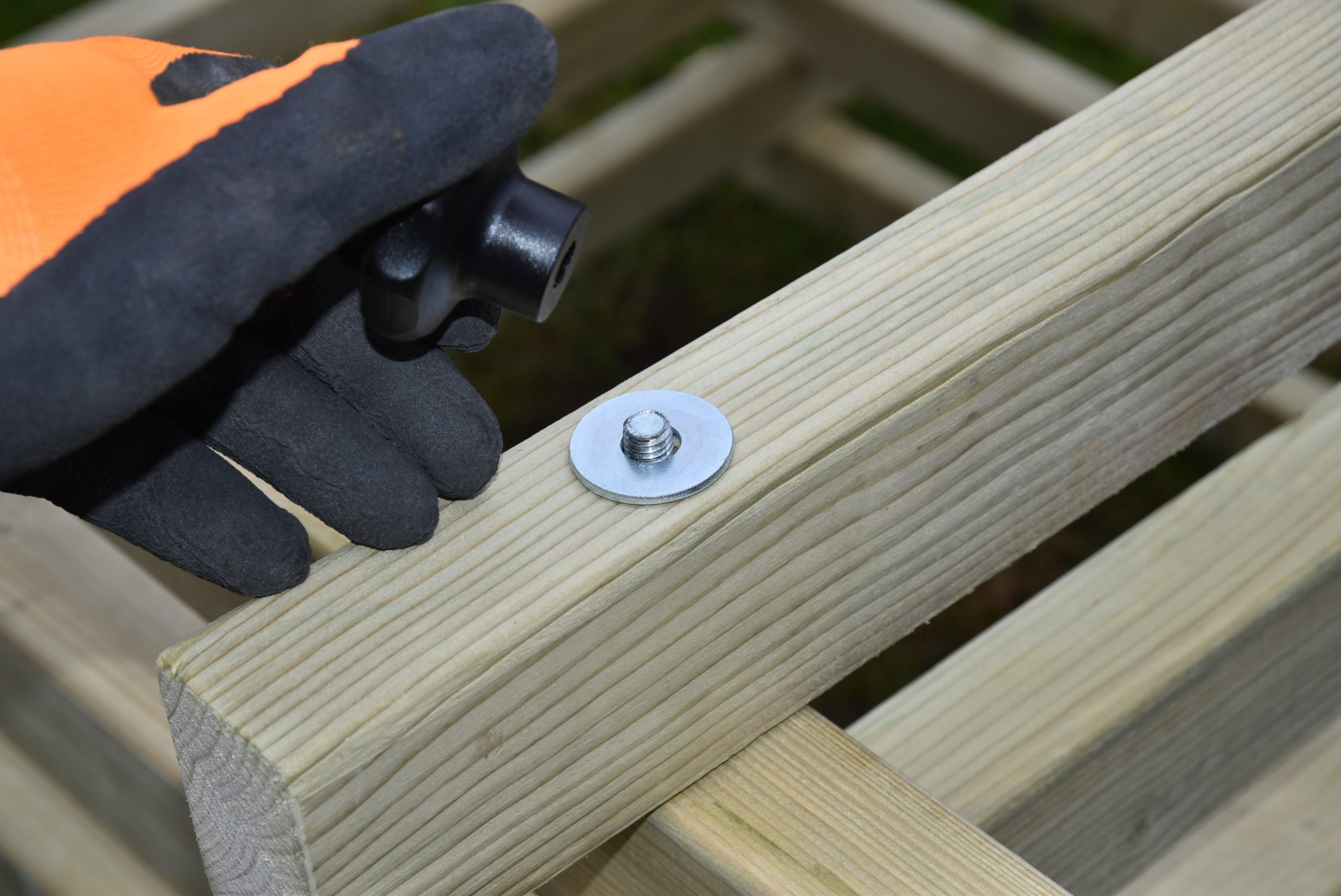 Dřevěný kompostér 300 x 200 cm s přepážkou
