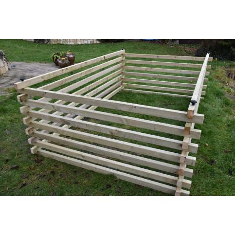 Dřevěný kompostér 300 x 200 cm