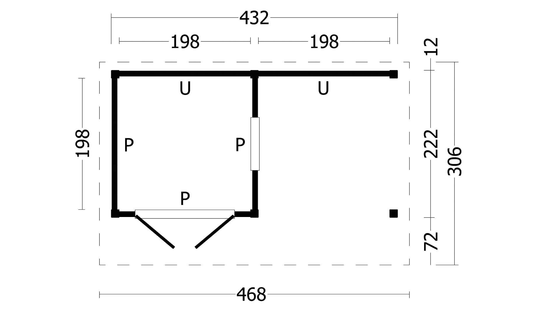 Montovaná chata Bergen 3 L