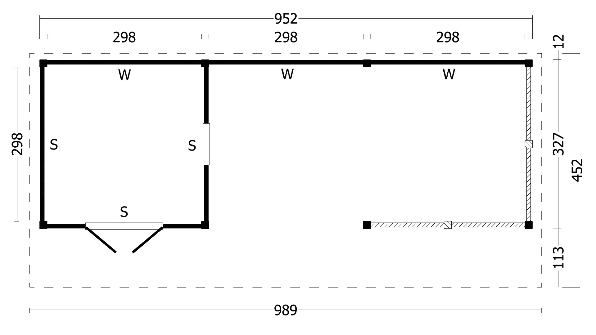 Montovaná chata Bergen 8 XL