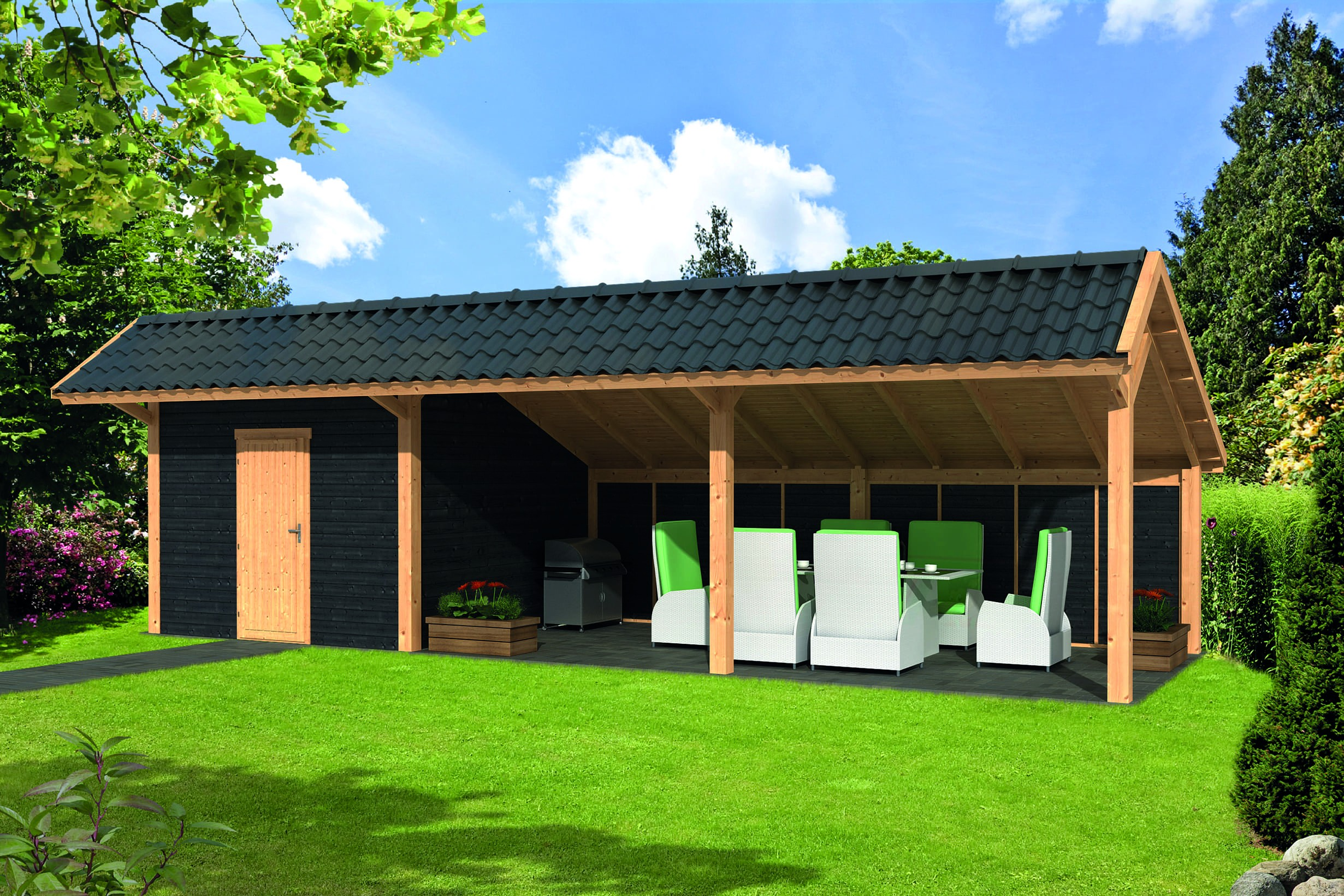Montovaná chata Bergen 7 XL