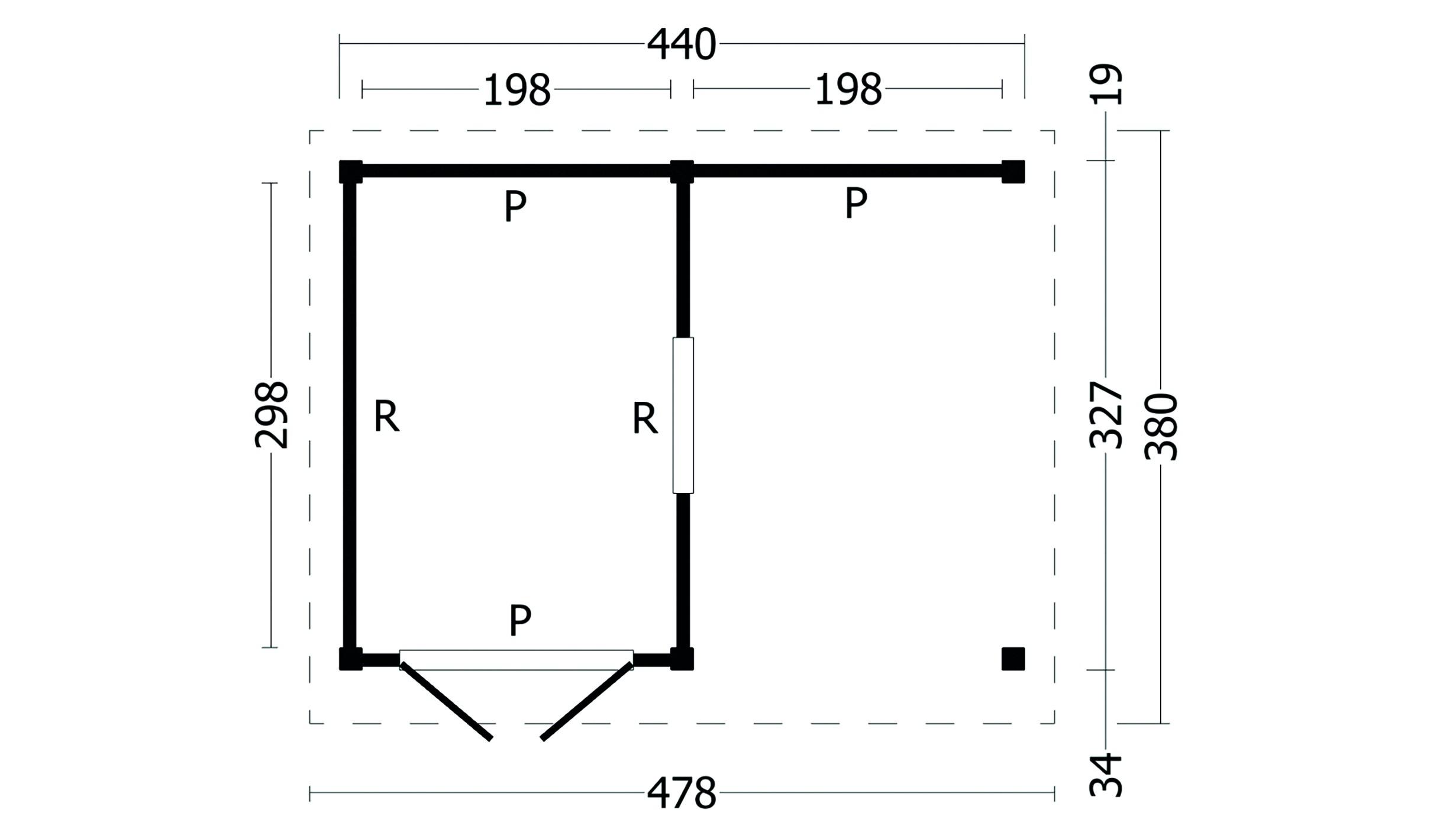 Montovaná chata Oslo 4 L