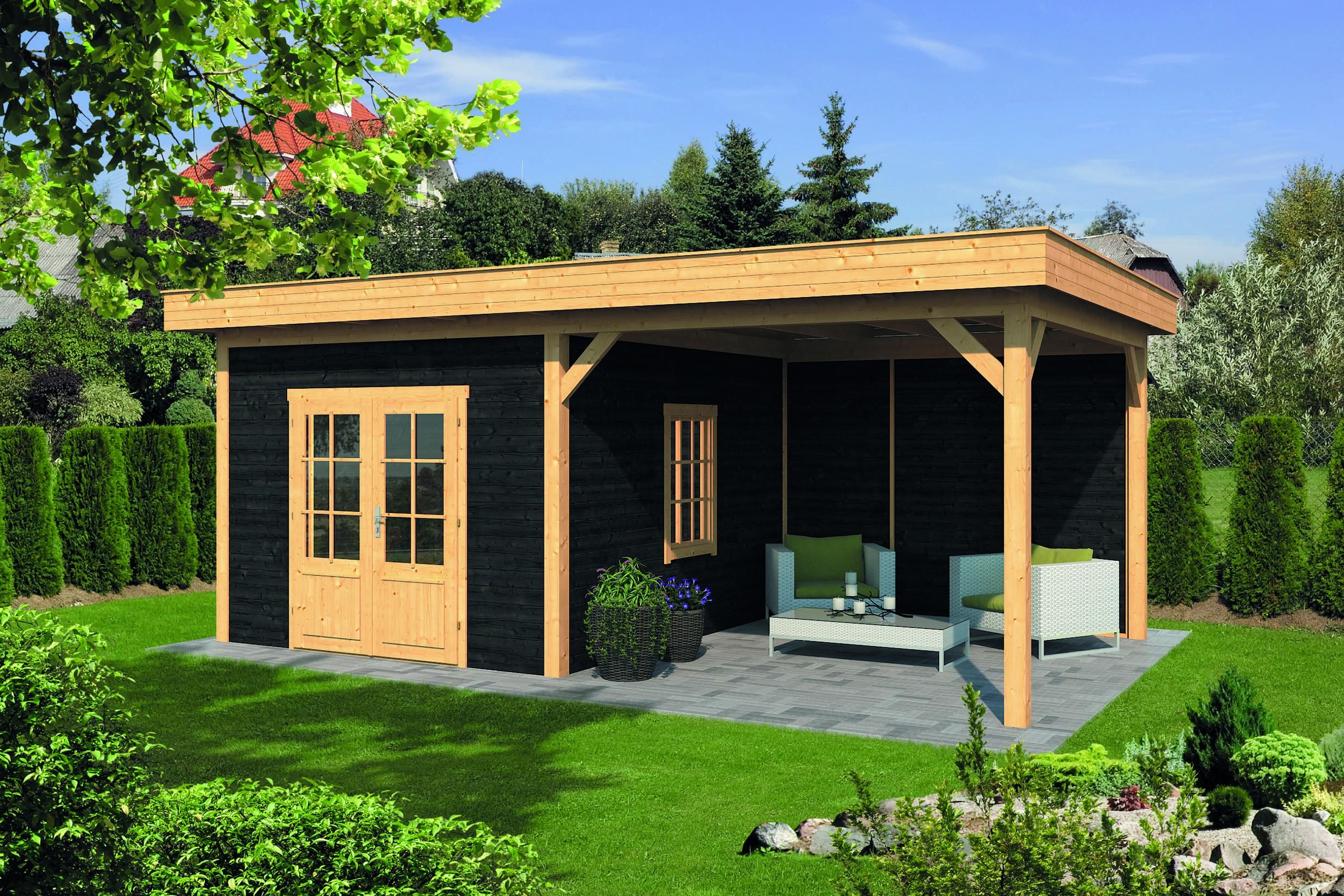 Montovaná chata s pultovou střechou Oslo 4 XL