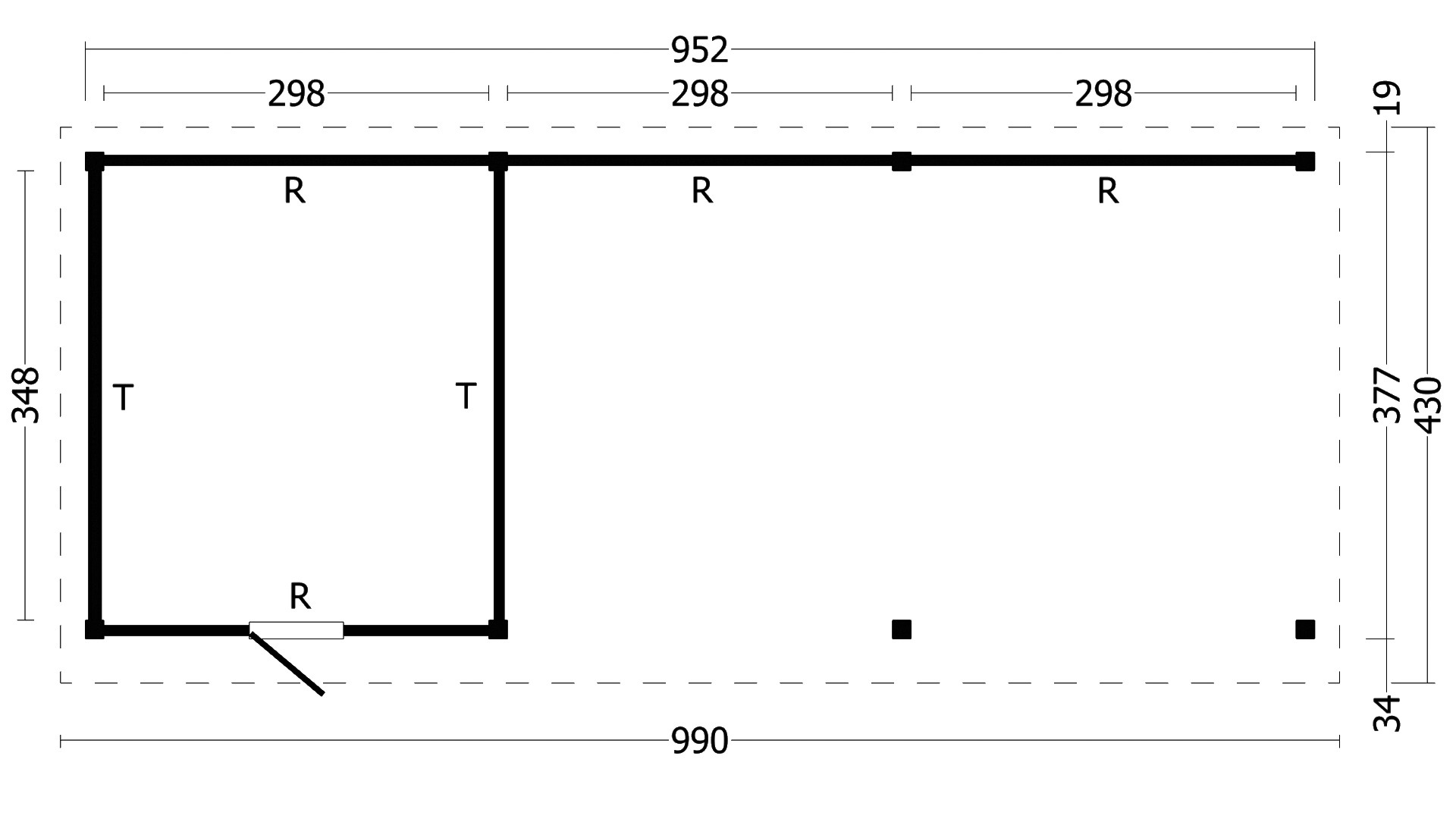 Montovaná chata Oslo 7 XL