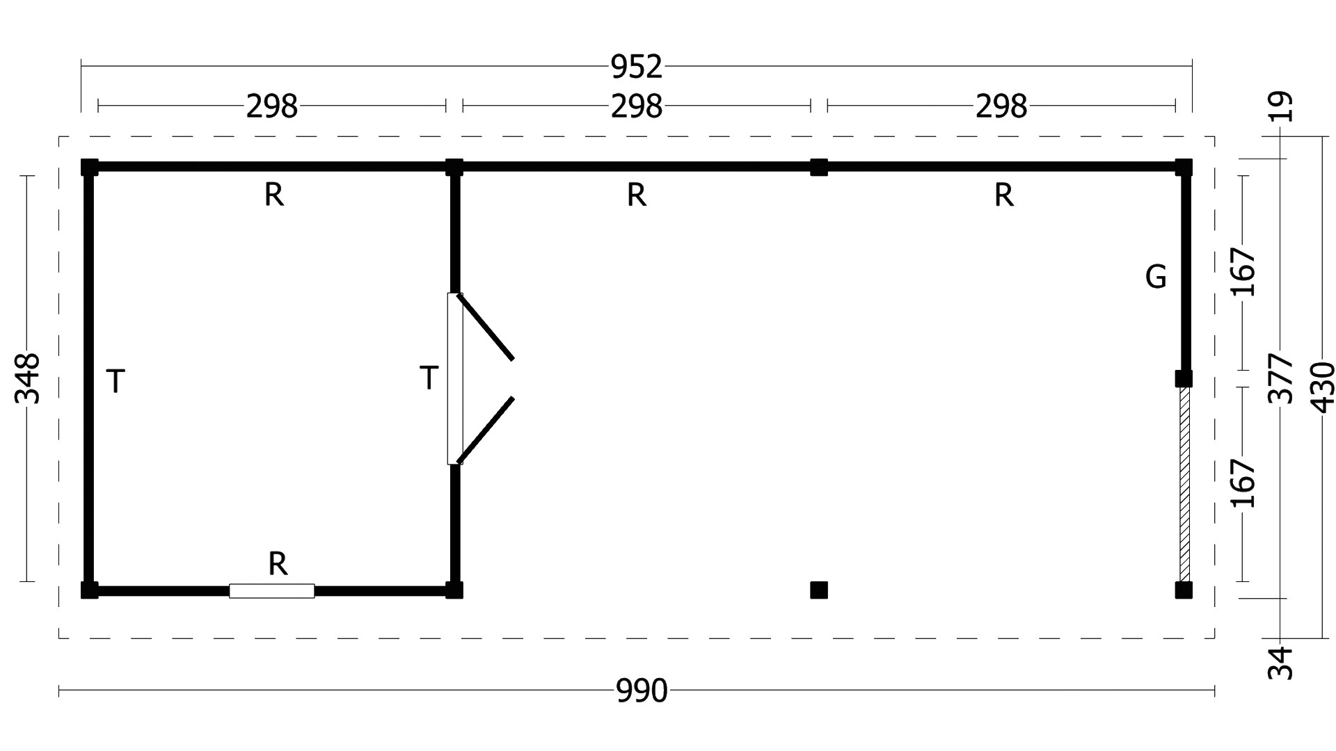 Montovaná chata Oslo 8 XL