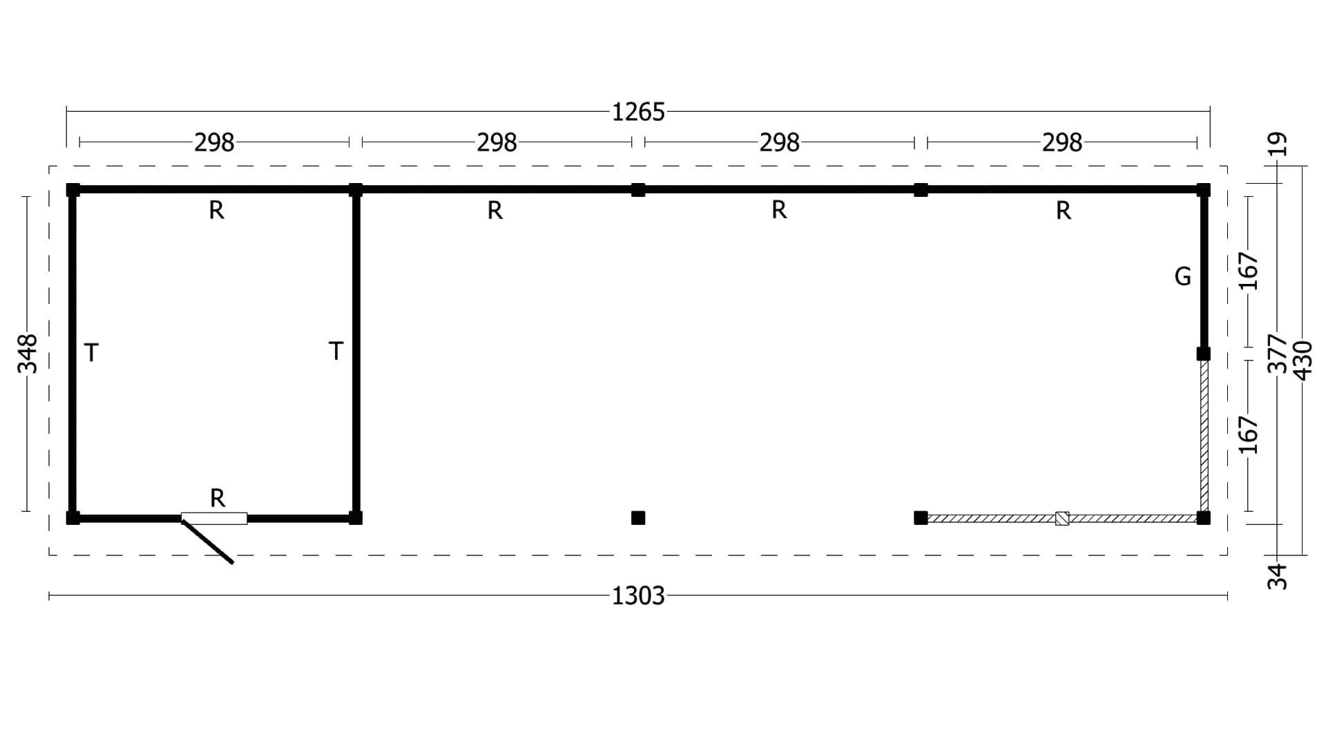 Montovaná chata Oslo 10 XL