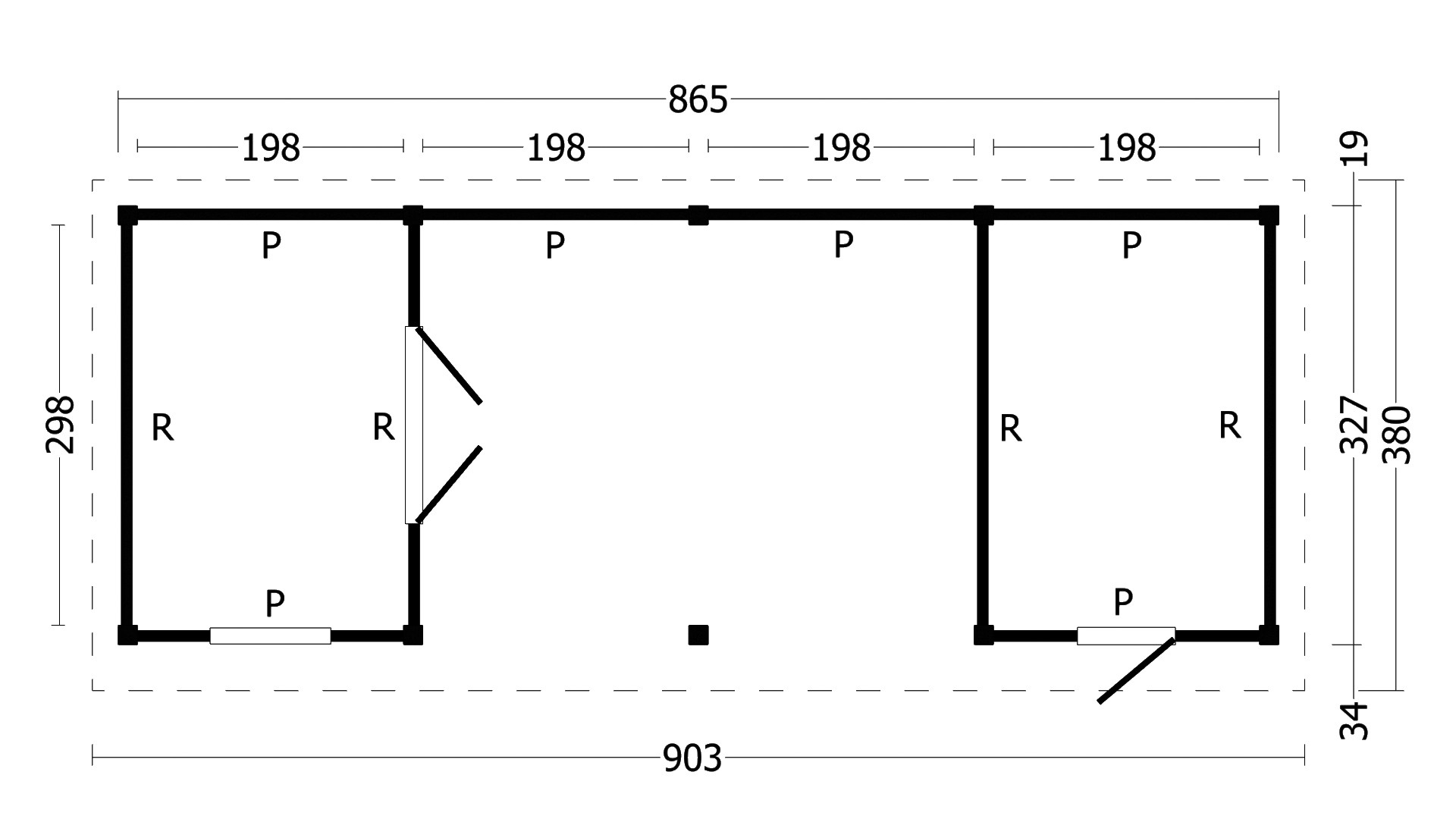 Montovaná chata Oslo 12 L