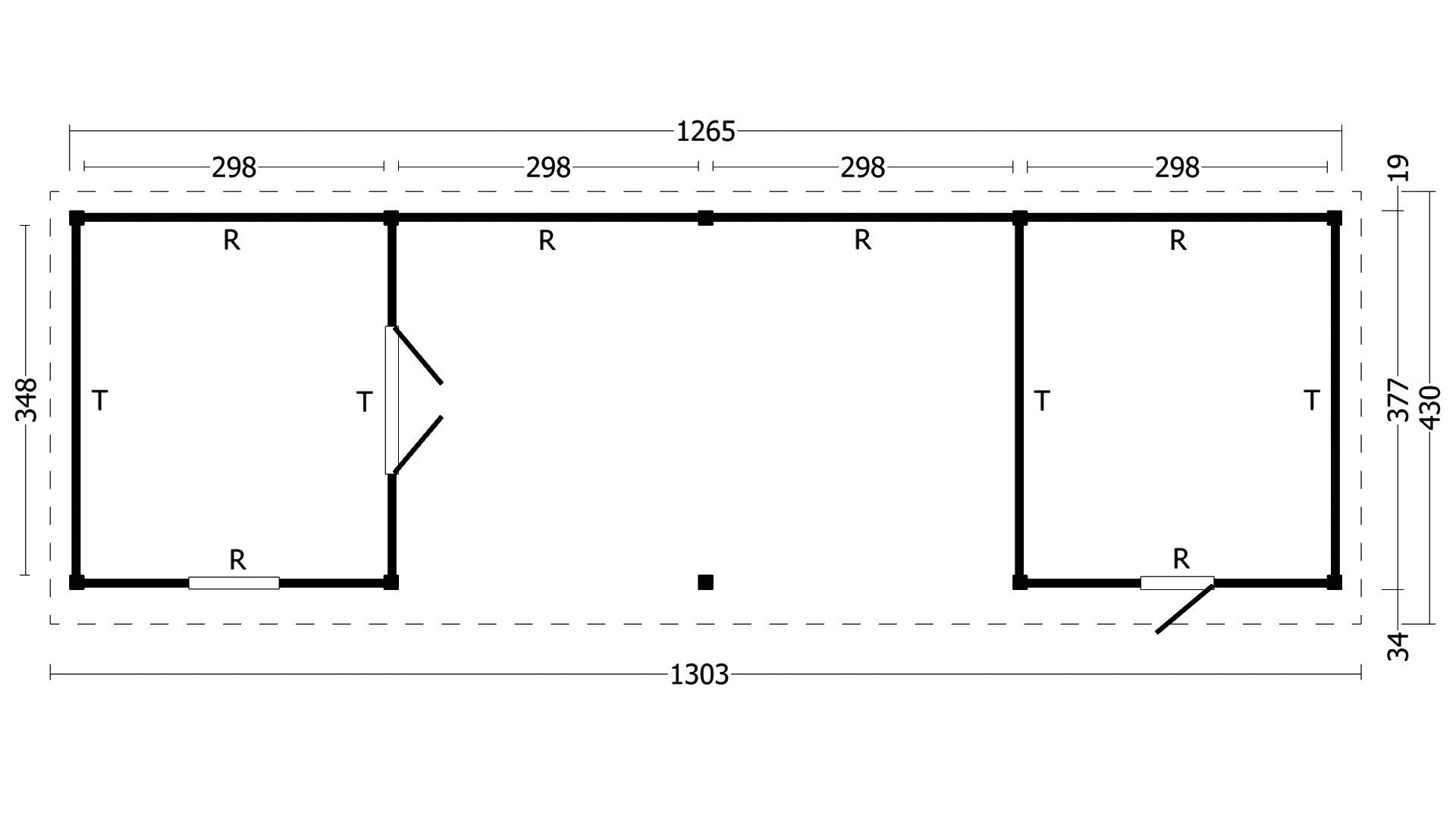 Montovaná chata Oslo 12 XL