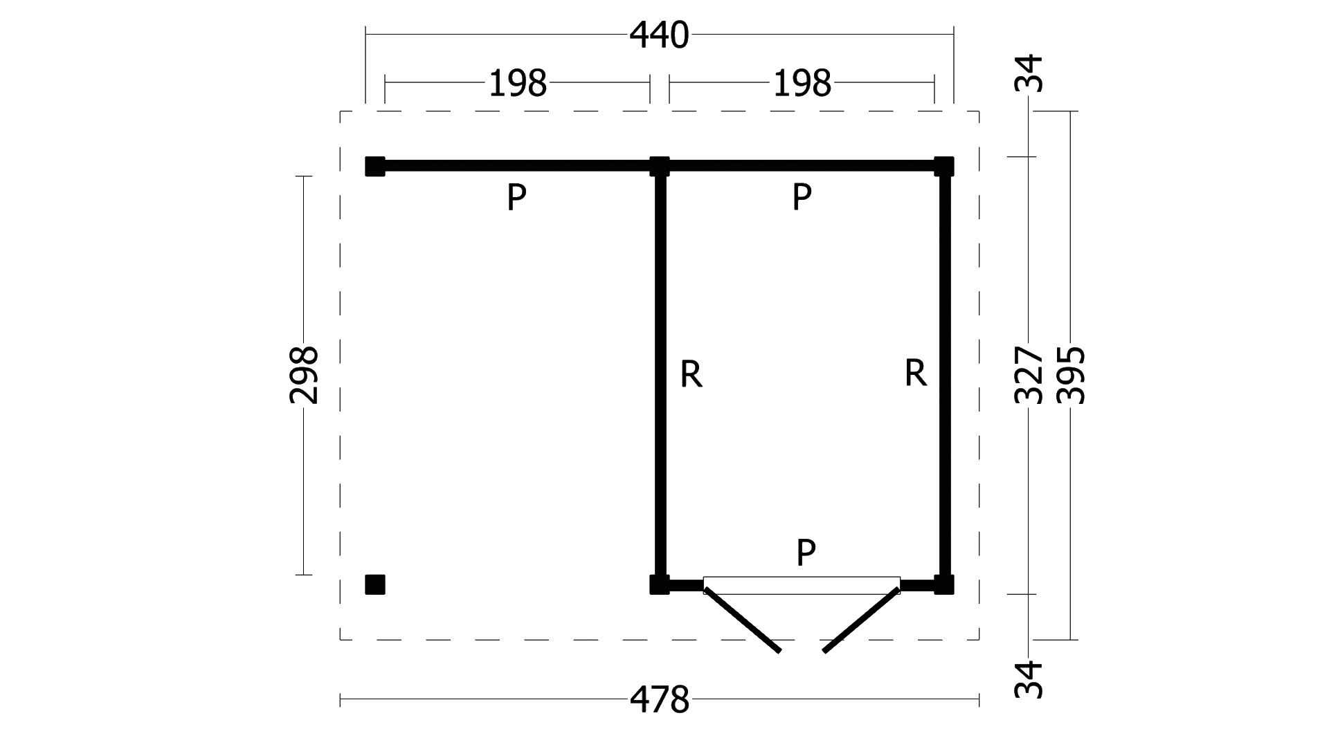 Montovaná chata Hamar 3 L