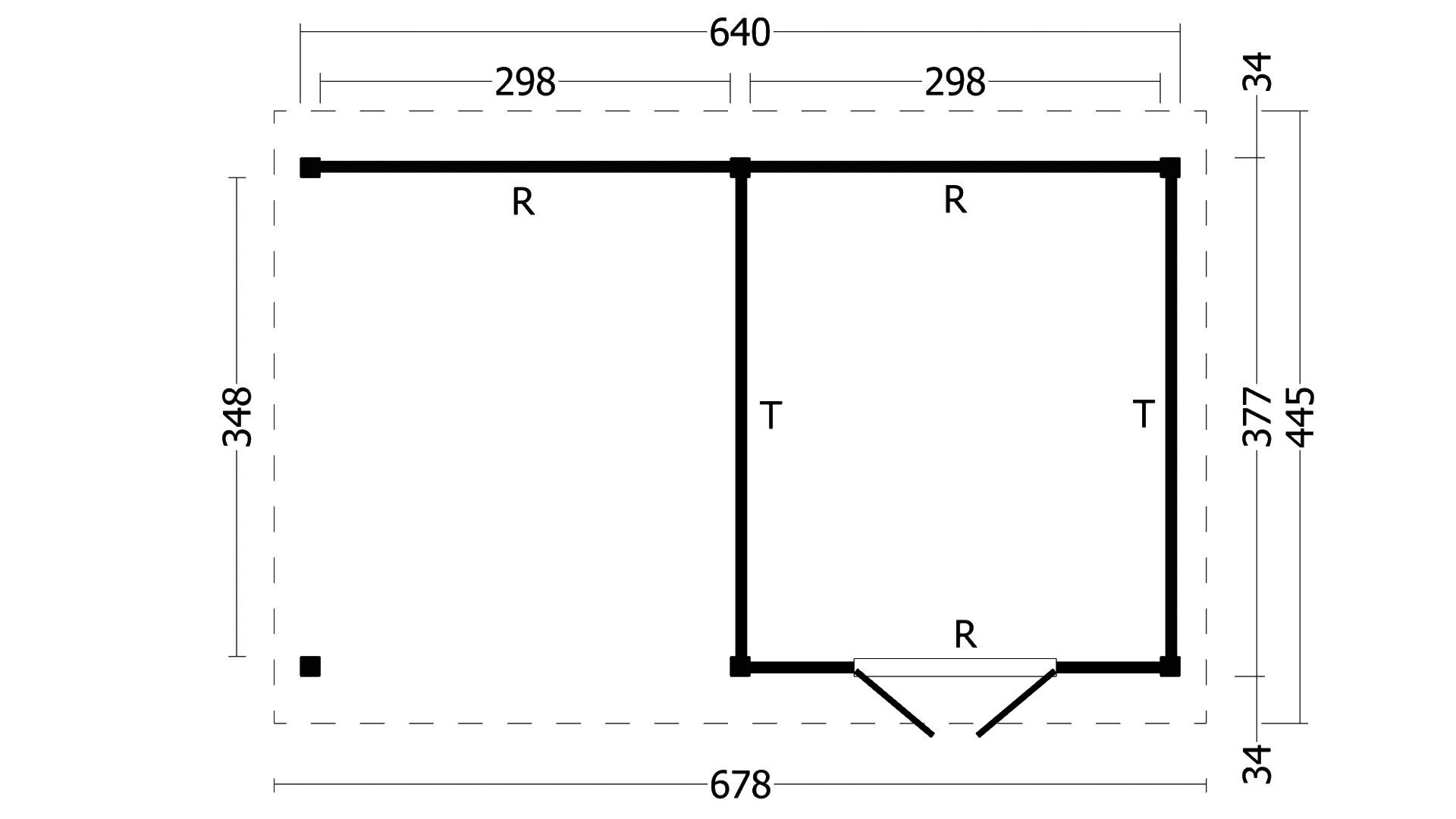 Montovaná chata Hamar 3 XL