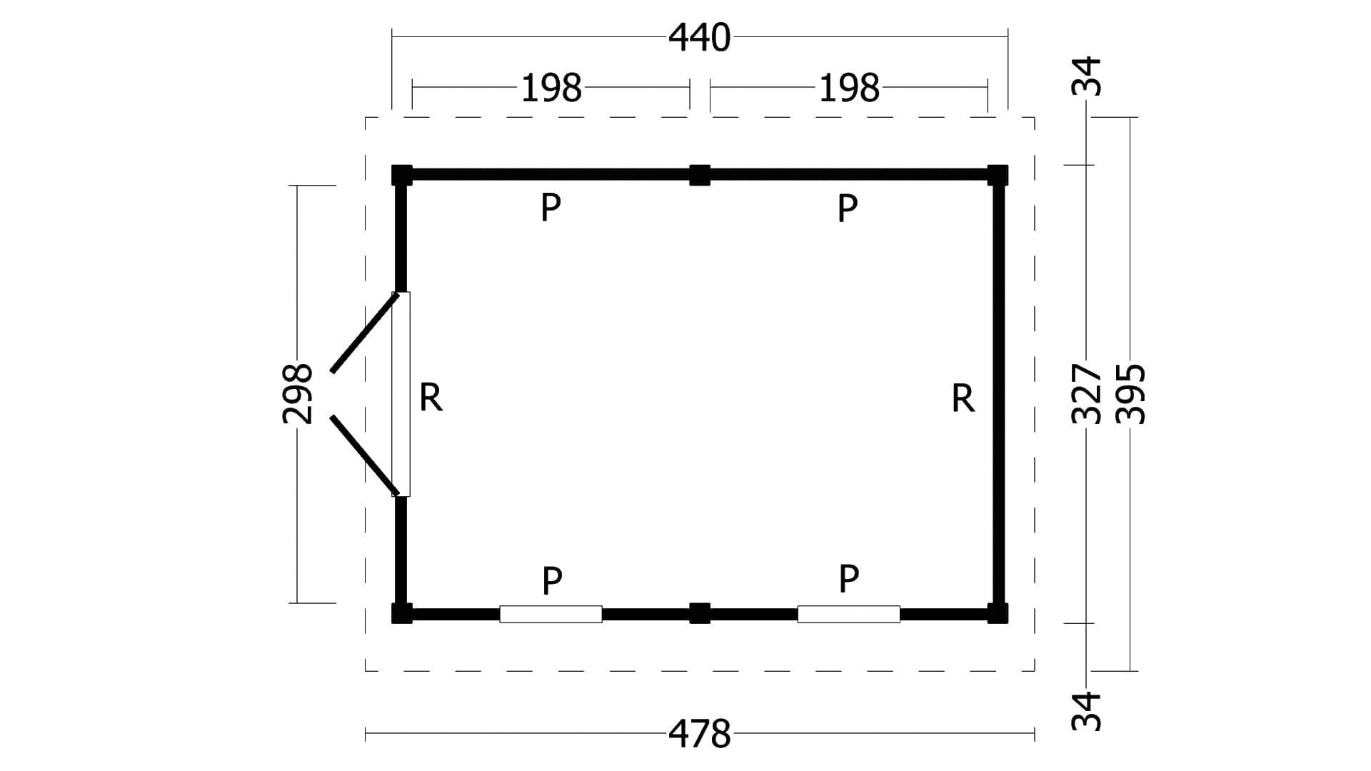 Montovaná chata Hamar 4 L