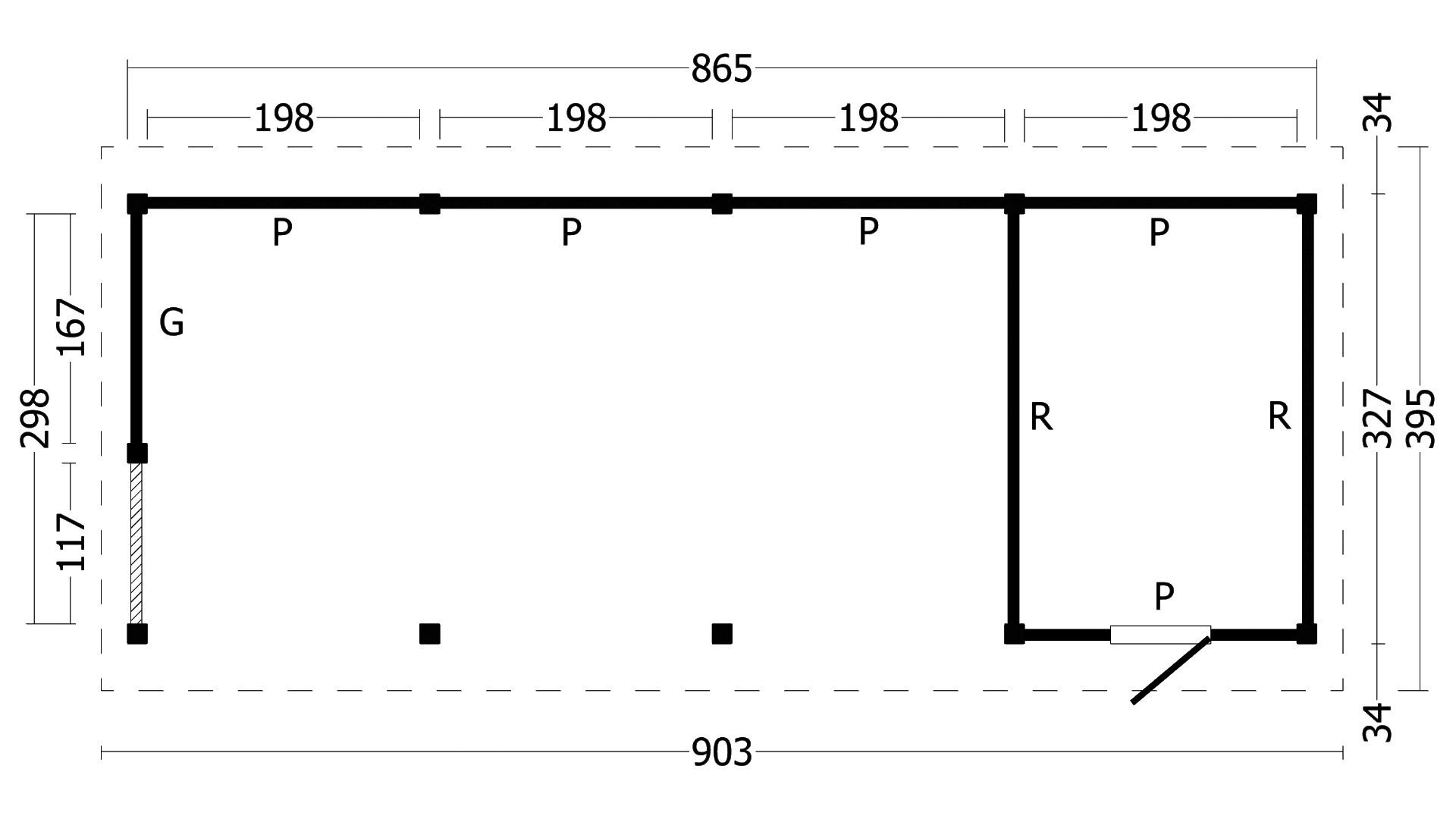 Montovaná chata Hamar 10 L