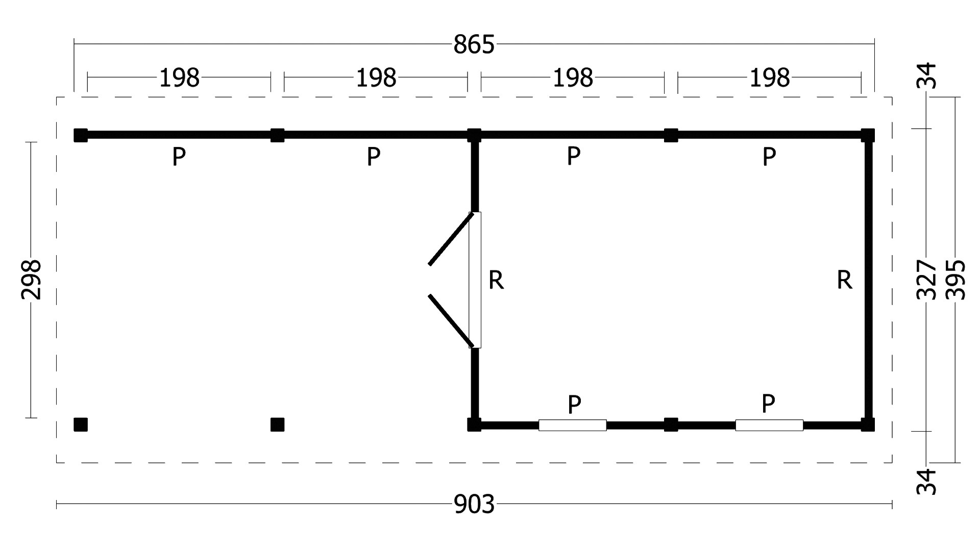 Montovaná chata Hamar 11 L