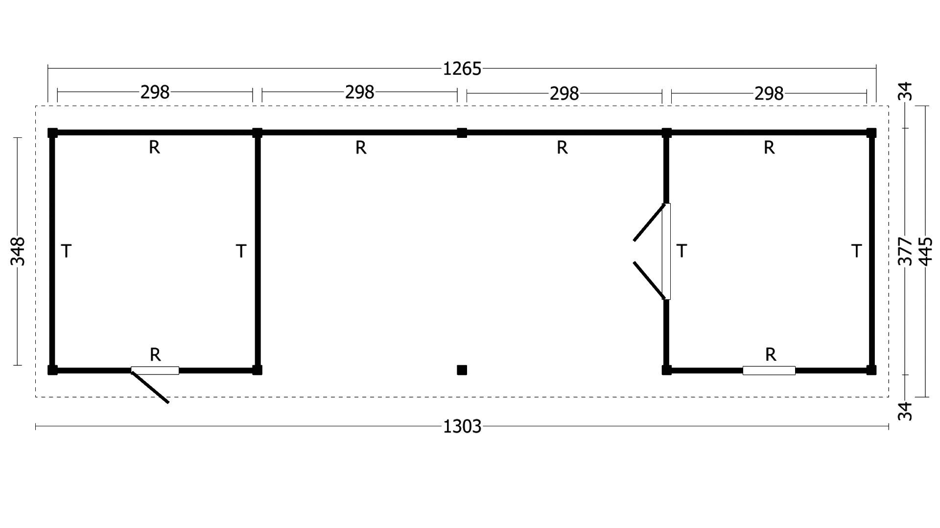 Montovaná chata Hamar 12 XL