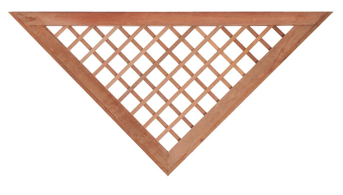 Mříž do plotových dílců z tvrdého dřeva