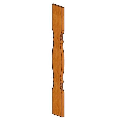 Klasické balkónové prkno 150001