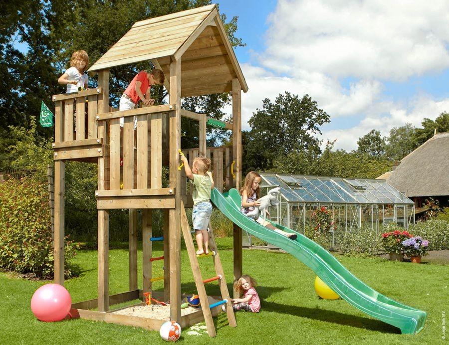 Dětské hřiště Jungle Palace se skluzavkou Zelená