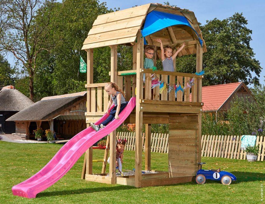 Dětské hřiště Jungle Barn se skluzavkou Fialová