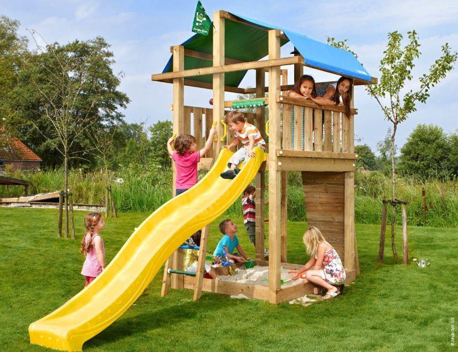Dětské hřiště Fort se skluzavkou Žlutá