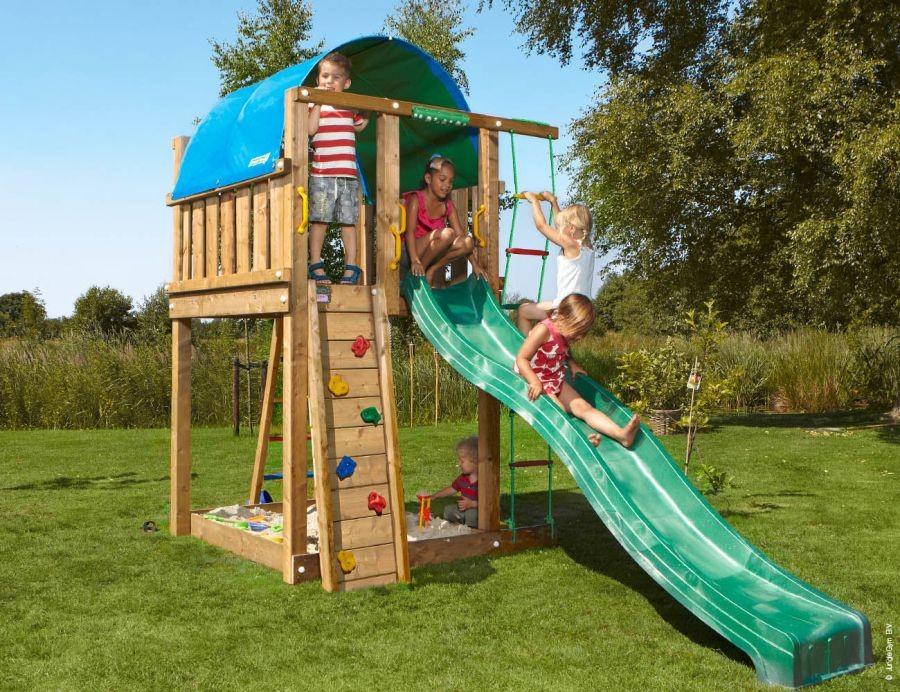 Dětské hřiště Villa se skluzavkou Zelená