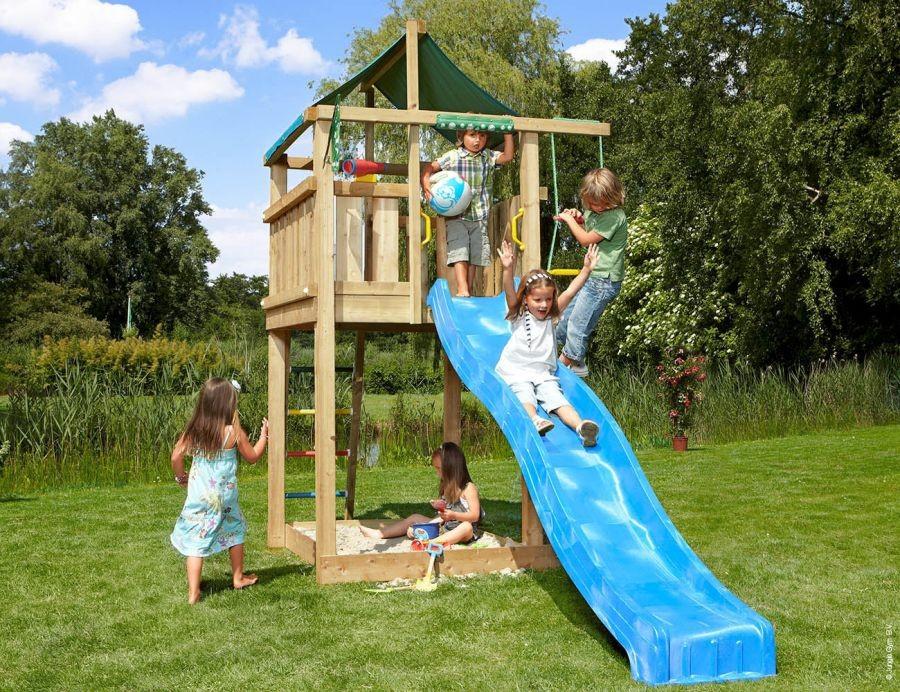 Dětské hřiště Lodge se skluzavkou Fialová