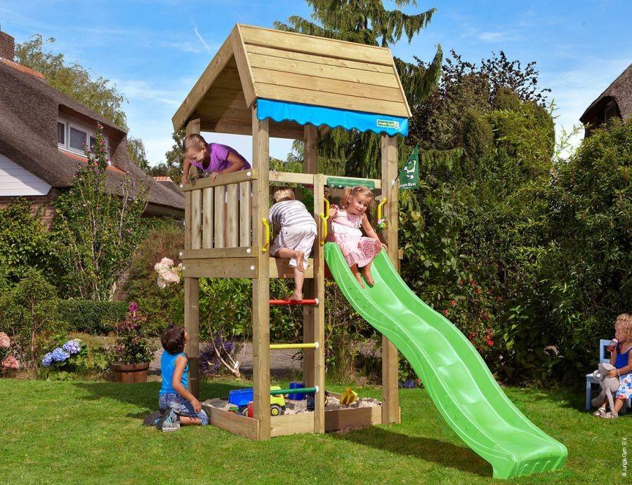 Dětské hřiště Home se skluzavkou Zelená