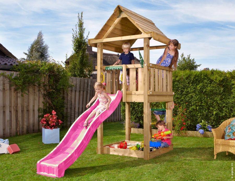 Dětské hřiště House se skluzavkou Modrá