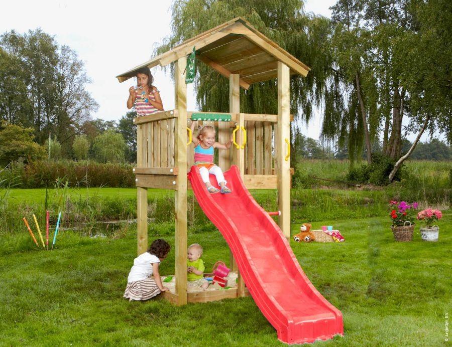Dětské hřiště Casa se skluzavkou Zelená