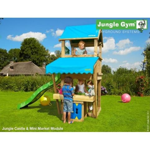 Hřiště Jungle Castle se skluzavkou a modulem MiniMarket