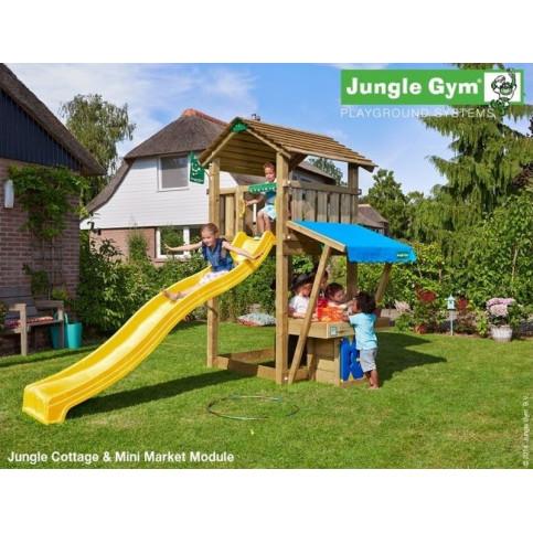 Hřiště Jungle Cottage se skluzavkou a modulem MiniMarket