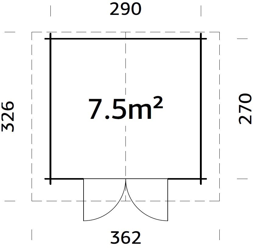 Zahradní domek  Týna 7,5 m2