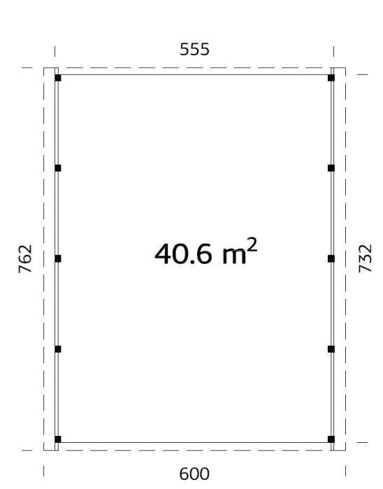 Garážové stání Karel 40,6 m2