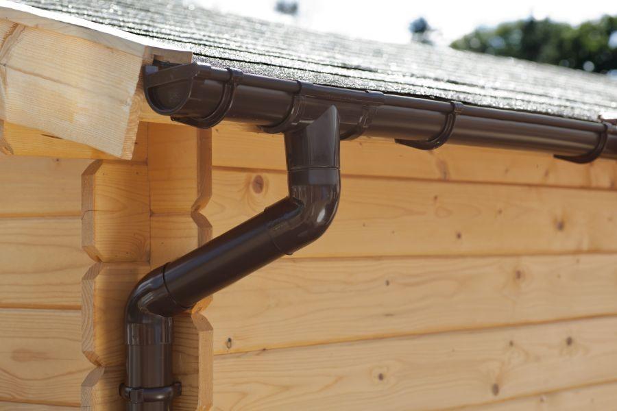 Okapový set pro pultové střechy 4 m