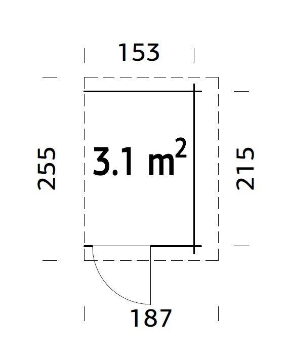 Přístavek k zahradní chatě 3,1 m2